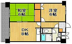 パークサイド薬院[5階]の間取り