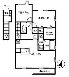 サザンディ−ズC[2階]の間取り