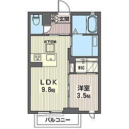 仮称 平柳町シャーメゾン[1階]の間取り