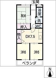 エスポワール武藤[1階]の間取り