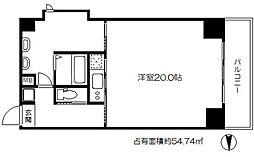 SKTOWER心斎橋EAST[15階]の間取り
