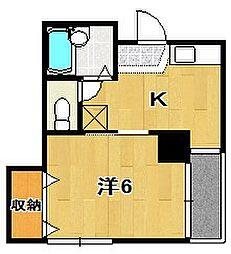 ボヌール[4階]の間取り