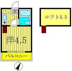 RARA新松戸No2[2階]の間取り