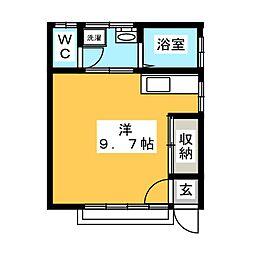 ハイツ26A・B[1階]の間取り