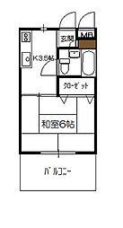 砂田アパート[203号室]の間取り