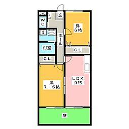 グランディールSONO[1階]の間取り