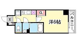 エスリード神戸三宮[607号室]の間取り