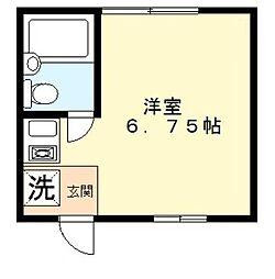 東京都調布市下石原3丁目の賃貸アパートの間取り