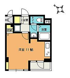 マルイチサウスマンション[206号室]の間取り