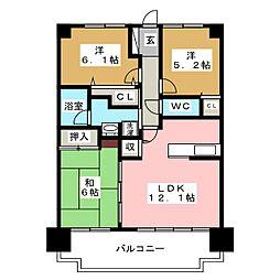 ベルヴィ香椎七番館[7階]の間取り