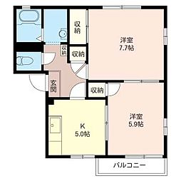 メゾンソフィアA[2階]の間取り