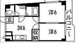 赤羽ハイツ1号棟[301号室]の間取り