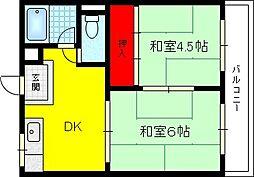 ロイヤルハイツ新庄[2階]の間取り