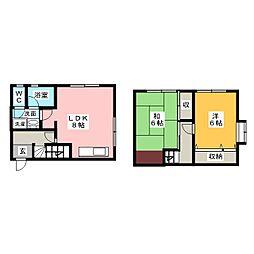 [テラスハウス] 静岡県浜松市南区東若林町 の賃貸【/】の間取り