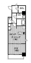 Osaka Metro御堂筋線 淀屋橋駅 徒歩5分の賃貸マンション 11階1LDKの間取り