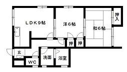 ハイツサン[1階]の間取り