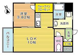 Studie飛幡(スタディ飛幡)[4階]の間取り