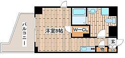 JR東海道・山陽本線 灘駅 徒歩2分の賃貸マンション 2階ワンルームの間取り