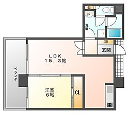 アンピールメゾン黒門[6階]の間取り