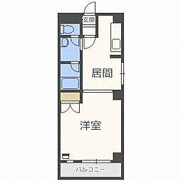 北海道札幌市西区琴似一条6丁目の賃貸マンションの間取り
