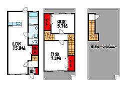 MRE伊賀 桜館 2階2LDKの間取り