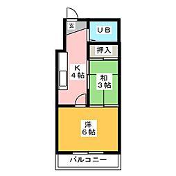 AXIS BLD 6[3階]の間取り