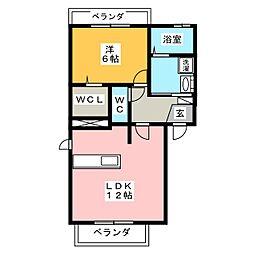 Casa・リベルタ[1階]の間取り