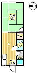 第3あけぼの荘[10号号室]の間取り