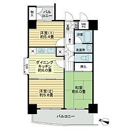 ライオンズマンション京橋川公園[4階]の間取り