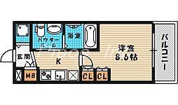 エステムプラザ梅田中崎町3ツインマークスノースレジデンス[6階]の間取り