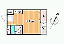 JPアパートメント藤井寺[3D号室]の間取り