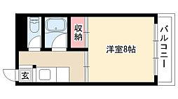 愛知県名古屋市昭和区山手通4丁目の賃貸マンションの間取り