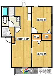 ショコラ神埼B棟[202号室]の間取り