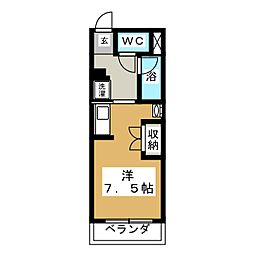 ストゥディオアレズ[2階]の間取り