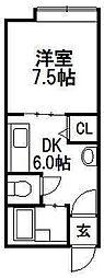 JPコート平岸公園[101号室]の間取り