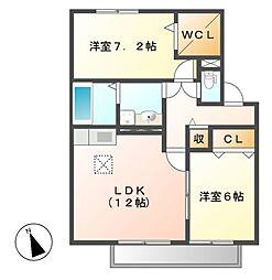 Casa Riviere[2階]の間取り