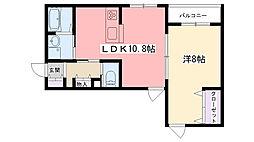 Rose Cottage[203号室]の間取り