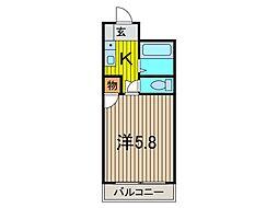 山一ビル[203号室]の間取り