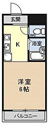 シャローム醍醐[302号室号室]の間取り