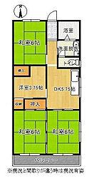 瀬尾コーポ[2階]の間取り