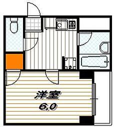 ラリティ田中[5階]の間取り