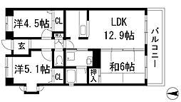 ル・パレ神田[1階]の間取り