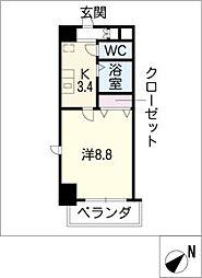パルティール覚王山[5階]の間取り