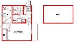 (仮称)西富1丁目アパート[203号室]の間取り