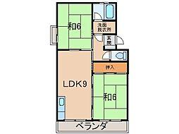 西浜コーポラス[4階]の間取り