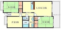 TフリーデンハイムII[1階]の間取り
