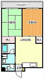 稲垣第3ビル[503号室]の間取り