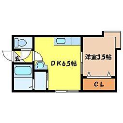北海道札幌市東区北十条東12丁目の賃貸アパートの間取り