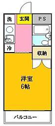 神奈川県川崎市多摩区西生田3丁目の賃貸マンションの間取り