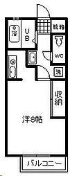 リバティハウス[305号室]の間取り